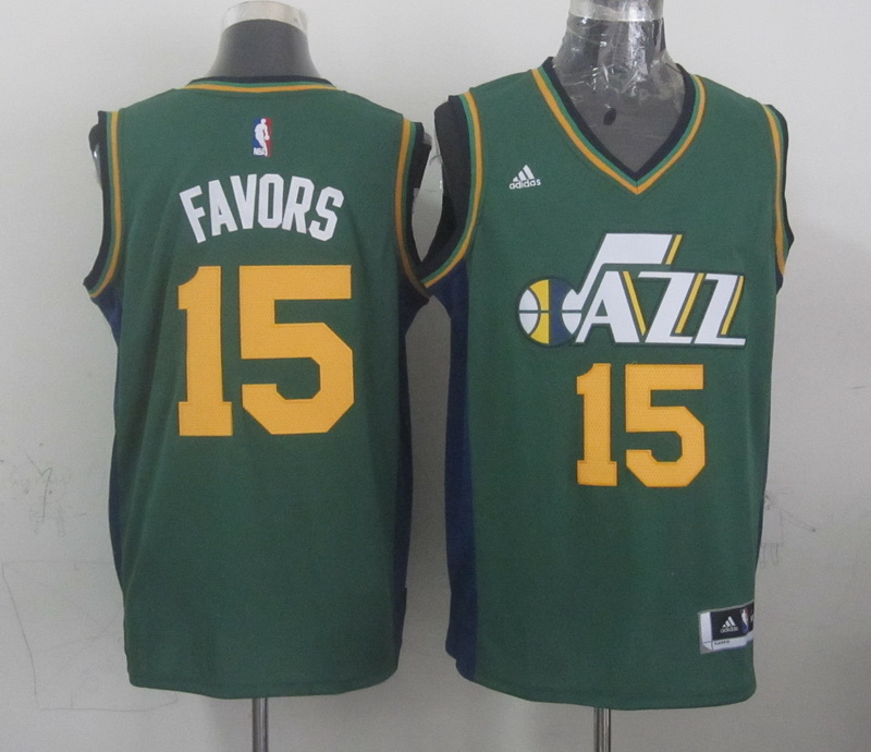 NBA Utah Jazz 15 favors green 2015 Jerseys