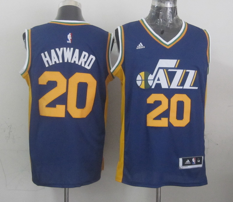 NBA Utah Jazz 20 Hayward blue 2015 Jerseys