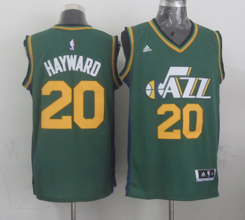 NBA Utah Jazz 20 Hayward green 2015 Jerseys