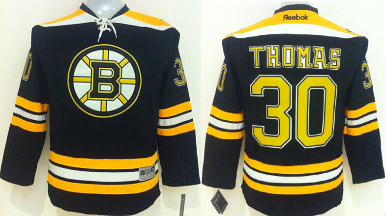 Youth NHL Boston Bruins 30 Thomas Black 2015 Jerseys