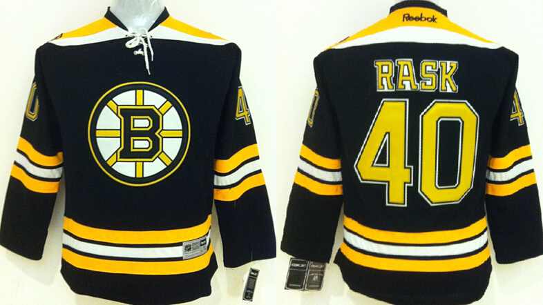 Youth NHL Boston Bruins 40 rask Black 2015 Jerseys