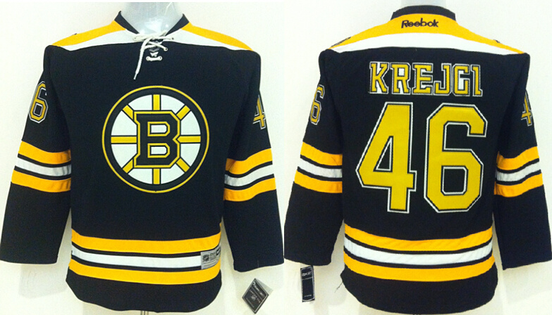 Youth NHL Boston Bruins 46 Krejgi Black 2015 Jerseys
