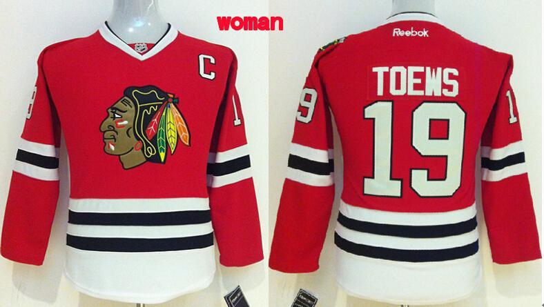 Womens NHL Chicago Blackhawks 19 toews red 2015 Jerseys
