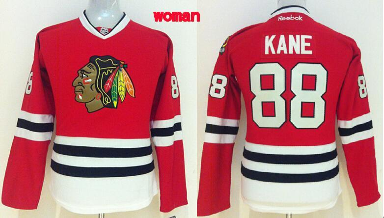 Womens NHL Chicago Blackhawks 88 kane red 2015 Jerseys