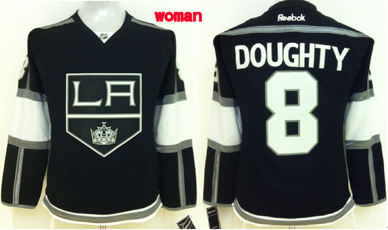 Womens NHL Los Angeles Kings 8 doughty black 2015 Jerseys