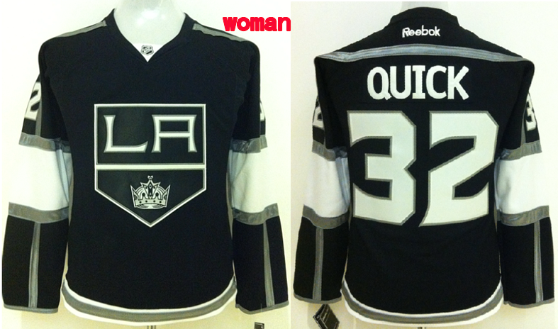 Womens NHL Los Angeles Kings 32 quick black 2015 Jerseys