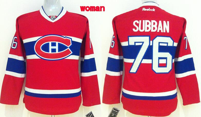 Womens NHL Montréal Canadiens 76 subban Red 2015 Jerseys