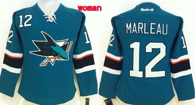 Womens NHL San Jose Sharks 12 marleau blue 2015 Jerseys