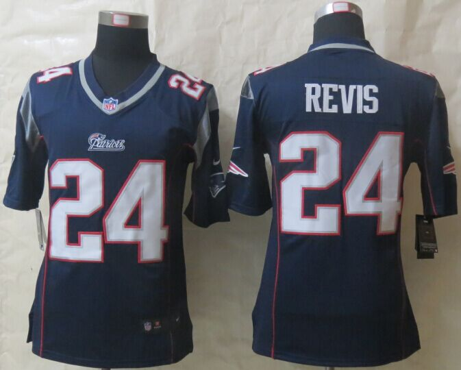 New England Patriots 24 Revis Blue New Nike Game Jerseys