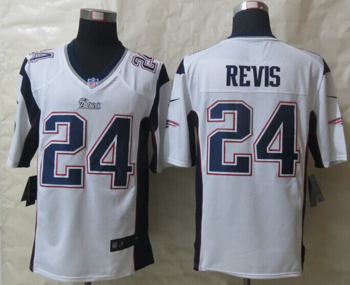 New England Patriots 24 Revis White New Nike Game Jerseys