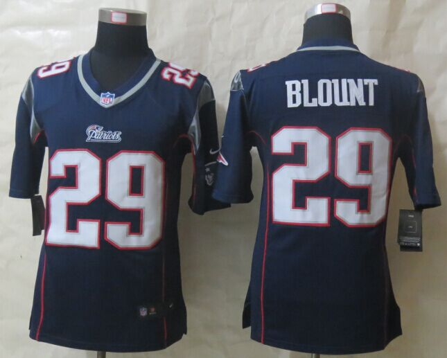 New England Patriots 29 Blount Blue New Nike Game Jerseys