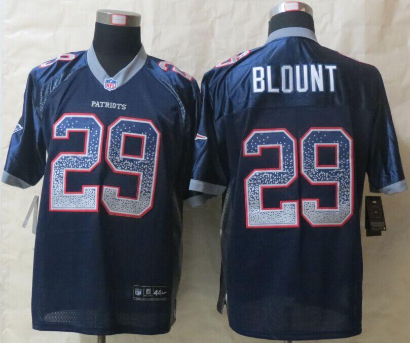New England Patriots 29 Blount Drift Fashion New Nike Blue Elite Jerseys