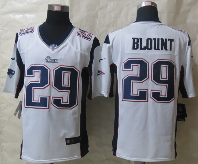 New England Patriots 29 Blount White New Nike Game Jerseys