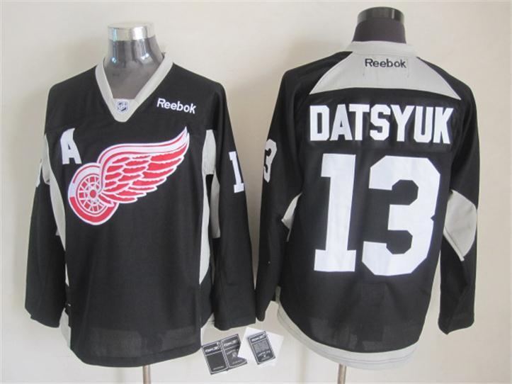 NHL Detroit Red Wings 13 datsyuk black 2015 Jerseys