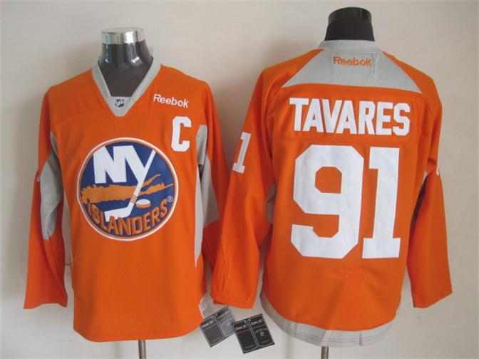 NHL New York Islanders 91 tavares orange 2015 Jerseys