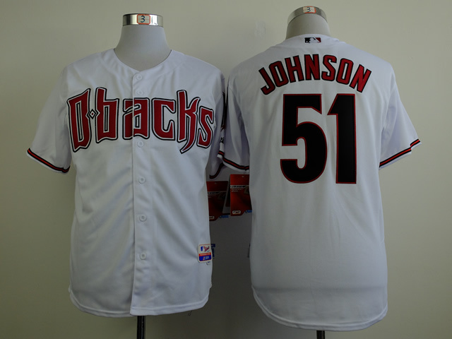 MLB Arizona Diamondbacks 51 Johnson white 2015 Jerseys