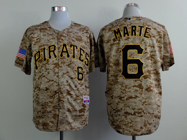 MLB Pittsburgh Pirates 6 marte Camo 2015 Jerseys