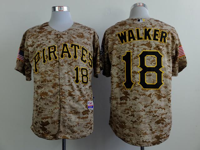 MLB Pittsburgh Pirates 18 Walker Camo 2015 Jerseys