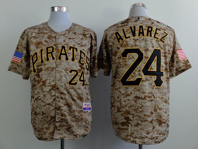MLB Pittsburgh Pirates 24 alvarez Camo 2015 Jerseys