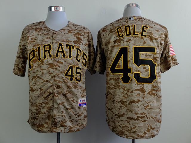 MLB Pittsburgh Pirates 45 cole Camo 2015 Jerseys