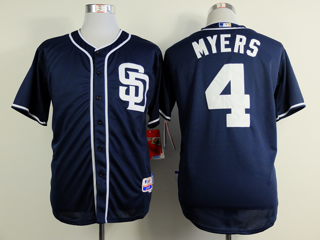 MLB San Diego Padres 4 Myers blue 2015 Jerseys