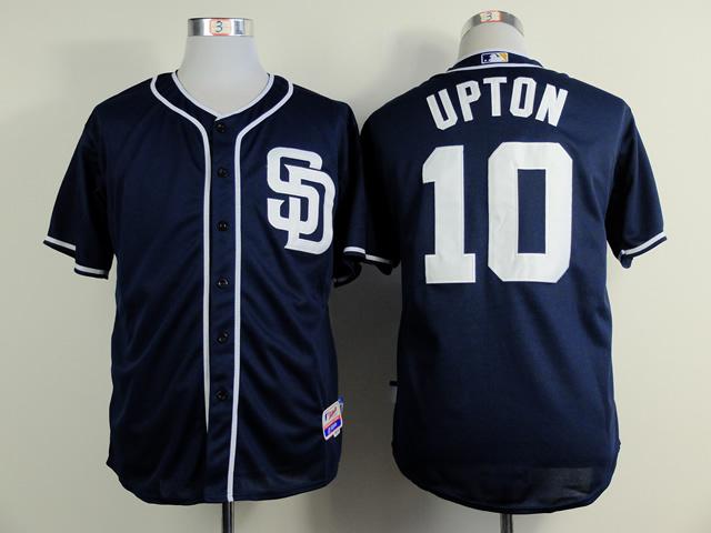 MLB San Diego Padres 10 Upton blue 2015 Jerseys