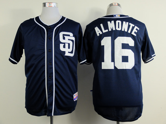 MLB San Diego Padres 16 almonte blue 2015 Jerseys