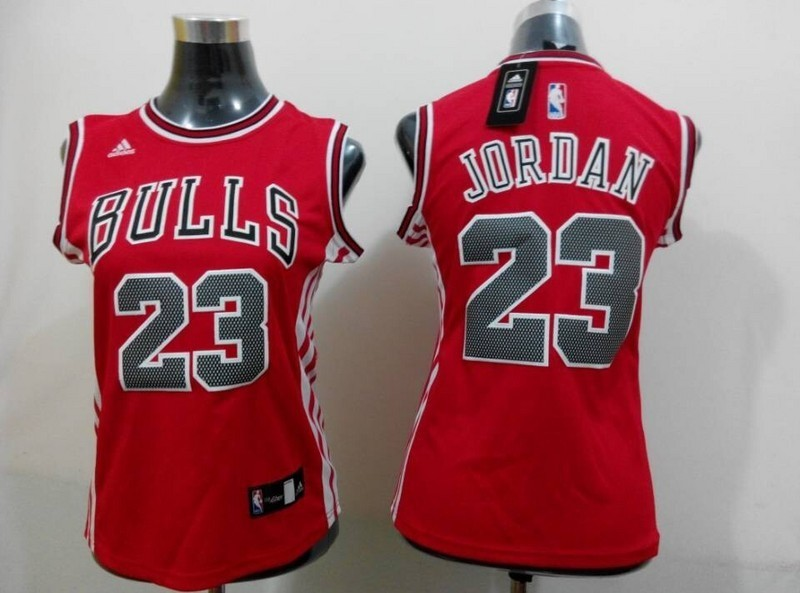 Womens NBA Chicago Bulls 23 Jordan red 2015 NBA New Jerseys