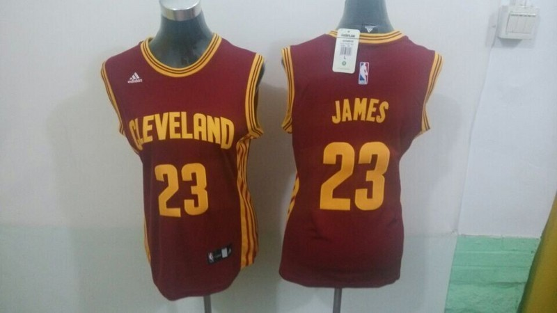 Womens NBA Cleveland Cavaliers 23 James red 2015 NBA New Jerseys