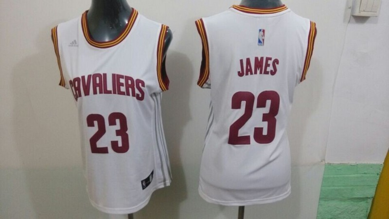 Womens NBA Cleveland Cavaliers 23 James white 2015 NBA New Jerseys
