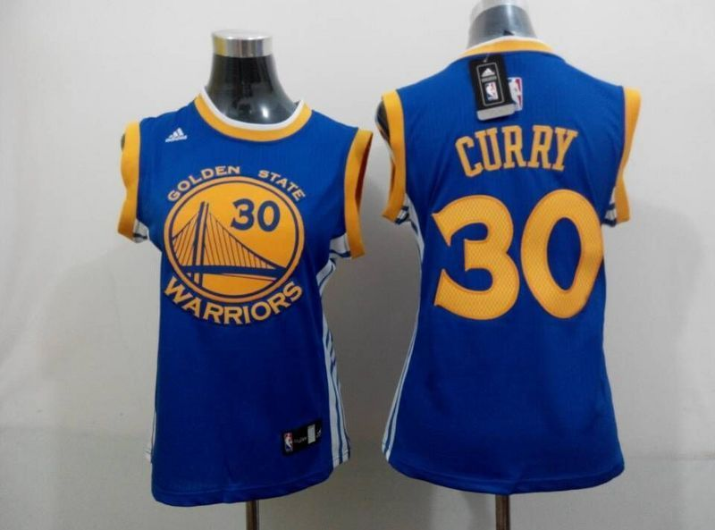 Womens NBA Golden State Warriors 30 curry blue 2015 NBA New Jerseys
