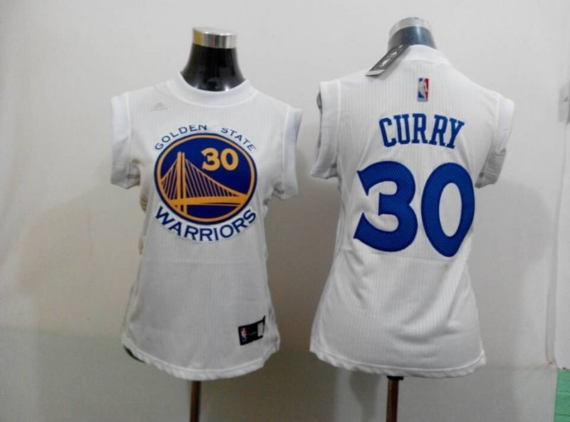 Womens NBA Golden State Warriors 30 curry white 2015 NBA New Jerseys