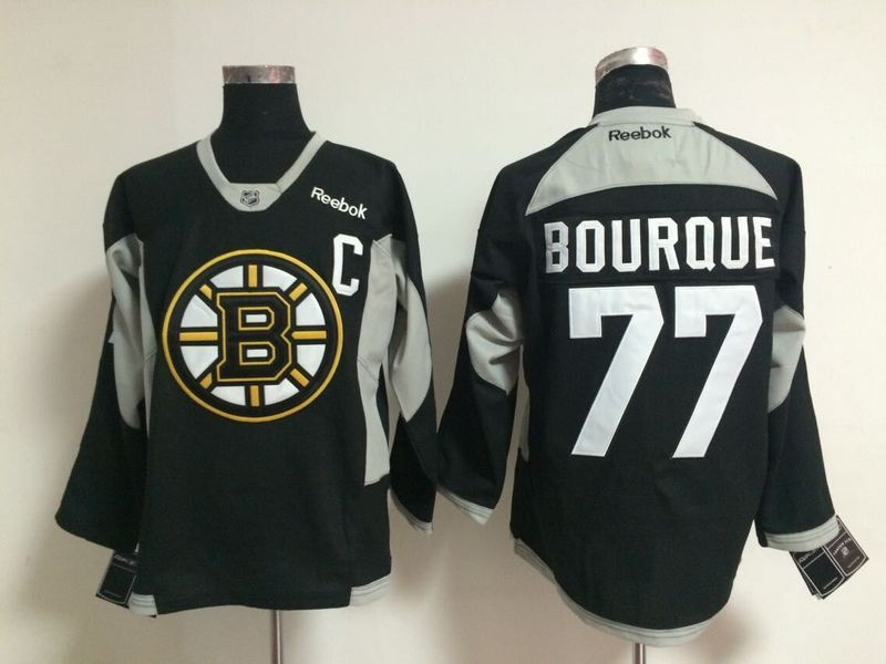 NHL Boston Bruins 77 bourque black 2015 Jerseys