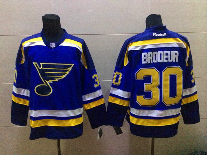 NHL St. Louis Blues 30 Brodeur blue 2015 Jerseys