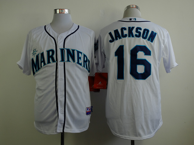 MLB Seattle Mariners 16 Jackson white 2015 Jerseys