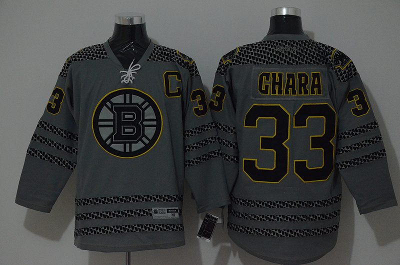 NHL Boston Bruins 33 chara grey 2015 Jerseys