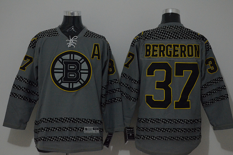 NHL Boston Bruins 37 bergeron grey 2015 Jerseys