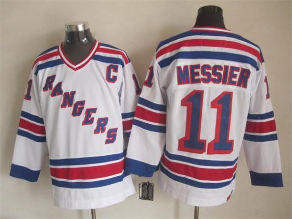NHL New York Rangers 11 Messier white 2015 Jerseys