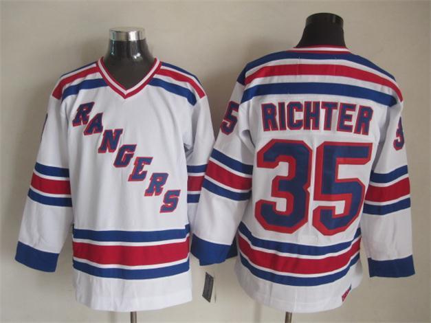 NHL New York Rangers 35 richter white 2015 Jerseys