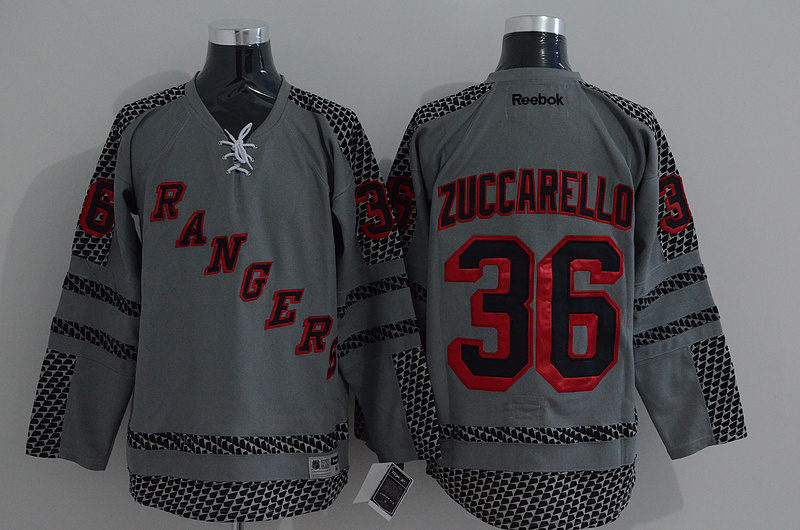 NHL New York Rangers 36 zuccarello grey 2015 Jerseys