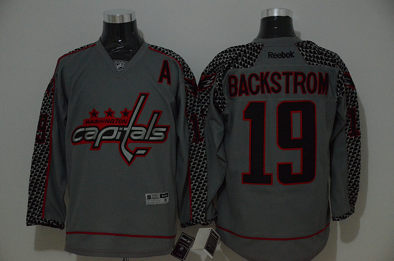 NHL Washington Capitals 19 backstrom grey 2015 Jerseys