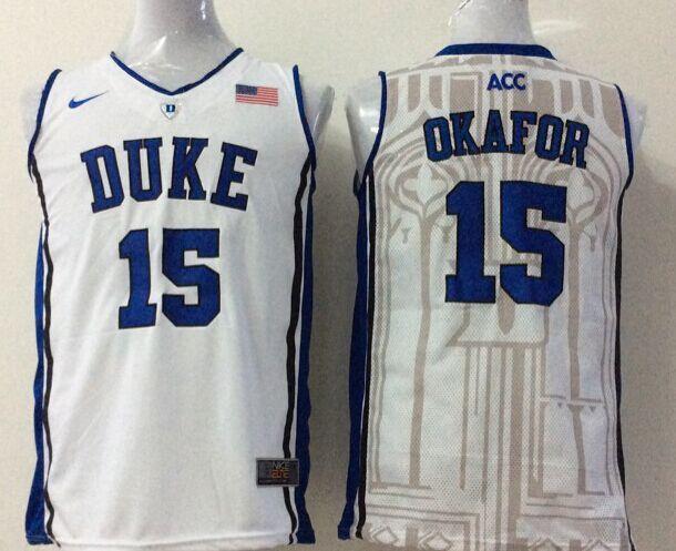 NCAA Duke Blue Devils 15 okafor white 2015 Jerseys