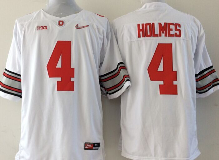 NCAA Ohio State Buckeyes 4 holmes white Jerseys