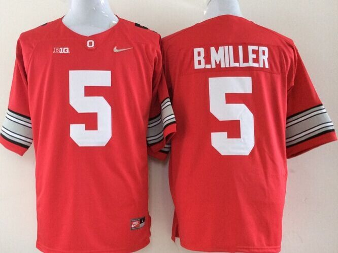 NCAA Ohio State Buckeyes 5 B.Miller red Jerseys