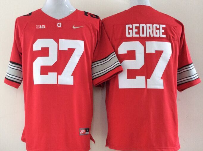 NCAA Ohio State Buckeyes 27 George red Jerseys