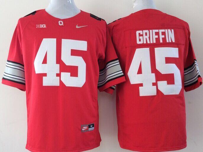 NCAA Ohio State Buckeyes 45 Griffin red Jerseys