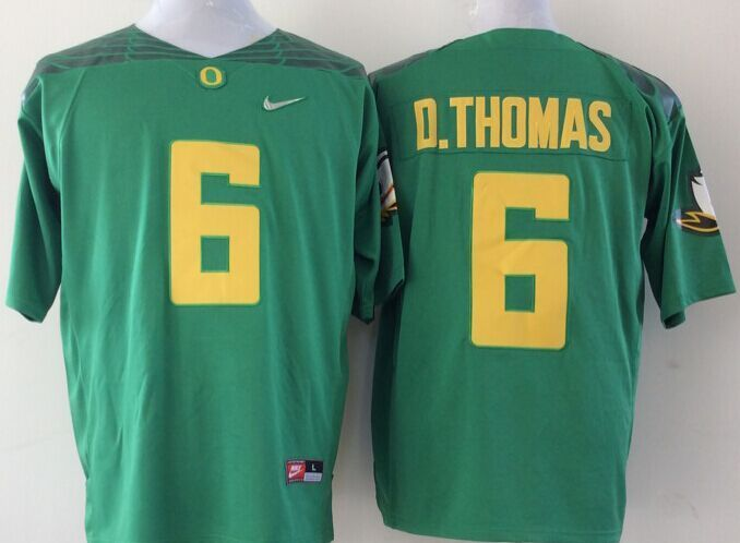 NCAA Oregon Ducks 6 D.THOMAS green Jerseys