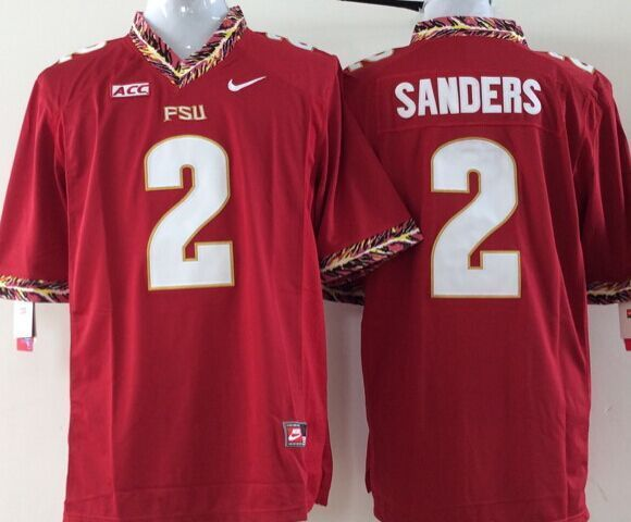 Youth NCAA Florida State Seminoles 2 sanders red Jerseys