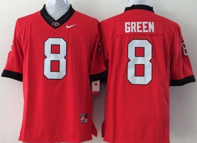 Youth NCAA Georgia Bulldogs 8 green red Jerseys