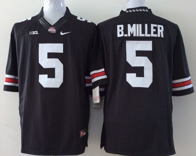 Youth NCAA Ohio State Buckeyes 5 B.Miller Black Jerseys